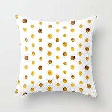 Corn flakes pattern Throw Pillow