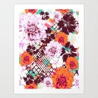 Croc Floral Art Print