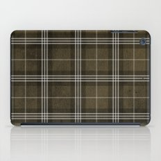 Grungy Brown Plaid iPad Case