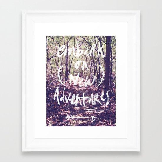 New Adventures Framed Art Print