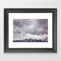 Born to hike Framed Art Print