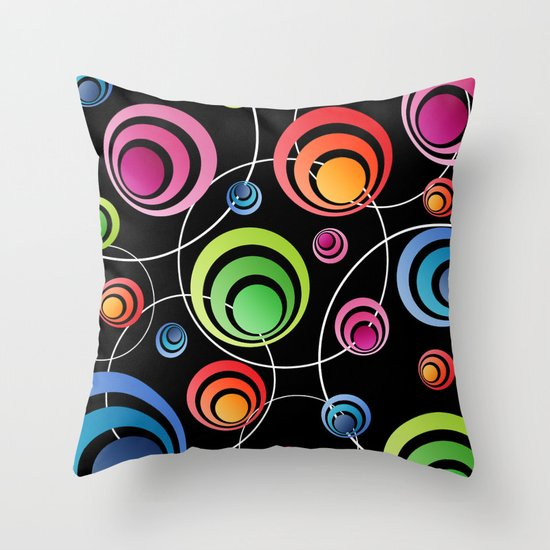 Circles In Circles. Throw Pillow