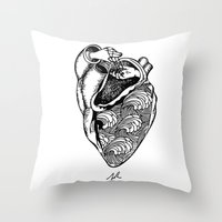 Heart Hands Throw Pillow