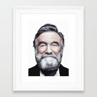 A tribute to Robin Williams Framed Art Print