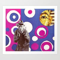 King Tut and the Gunslinger Art Print