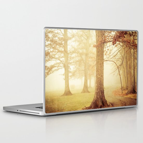 I Heard Whispering in the Woods Laptop & iPad Skin