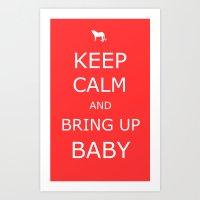 Bring Up Baby Art Print