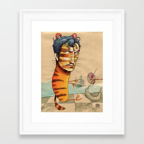 EASY, TIGER Framed Art Print