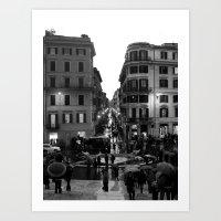 Rain In Rome Art Print