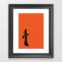 Believe in Nothing - orange Framed Art Print