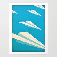 Paper squadron Art Print