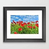 Framed Art Print featuring Sky High by Joke Vermeer