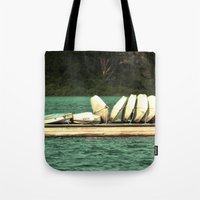 Boats on the Dock Tote Bag