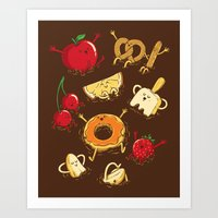 Chocolate Dip Party Art Print