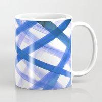 Criss Cross Blue Mug