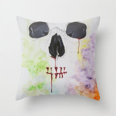 A beautiful array of something gone wrong Throw Pillow
