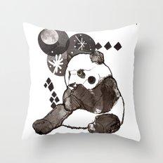 European Panda Throw Pillow