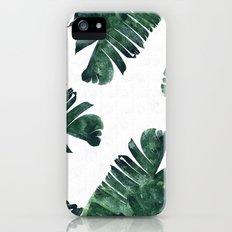 Banana Leaf Watercolor P… iPhone (5, 5s) Slim Case