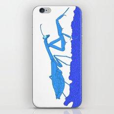 Blue Praying Mantis iPhone & iPod Skin