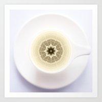 Coffee Foam Mandala Art Print