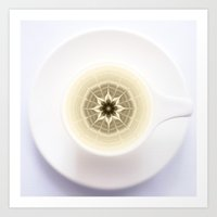 Coffee Foam Mandala Art Print