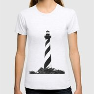 Cape Hatteras Lighthouse… Womens Fitted Tee Ash Grey SMALL