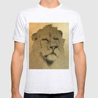 LION EYES Mens Fitted Tee Ash Grey SMALL