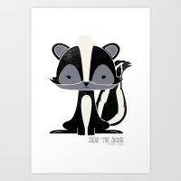 Sadie the Skunk Art Print