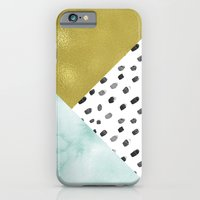 Watercolor And Gold iPhone 6 Slim Case