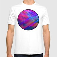 Colour Abstract Mens Fitted Tee White SMALL