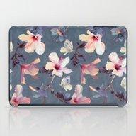 Butterflies And Hibiscus… iPad Case