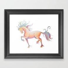 My Technicolor Pony Framed Art Print