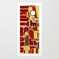 robot Art Prints featuring Robot by LindseyCowley