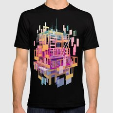 Building Clouds MEDIUM Mens Fitted Tee Black