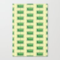 Stacked Rectangles Canvas Print