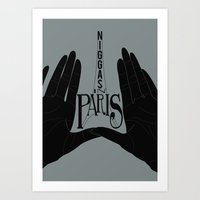 Niggas In Paris Art Print