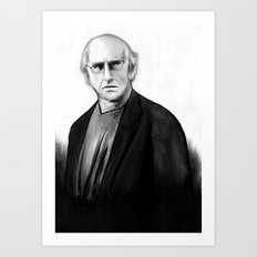 DARK COMEDIANS: Larry David Art Print