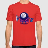The Magic Eight Ball Mens Fitted Tee Red SMALL