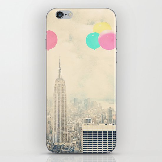 Balloons over the City iPhone & iPod Skin