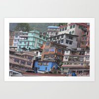 Zhangmu, Tibet Art Print
