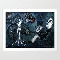 FACEBOOK MADNESS Art Print