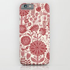 red flowers Slim Case iPhone 6s