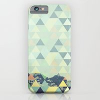 iPhone Cases featuring Triangle Mountain II by Metron