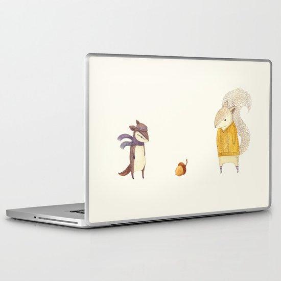The Last Acorn of Autumn Laptop & iPad Skin
