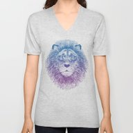 Face Of A Lion Unisex V-Neck