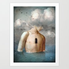 the door to the clouds Art Print