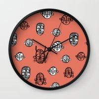 masks II Wall Clock