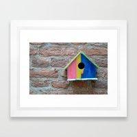 Birdhouse 2 Framed Art Print