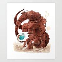 Space Brontosaurus  Art Print