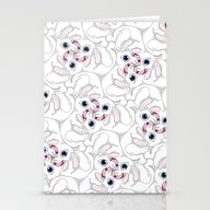 Rabid Rabbits Tessellati… Stationery Cards